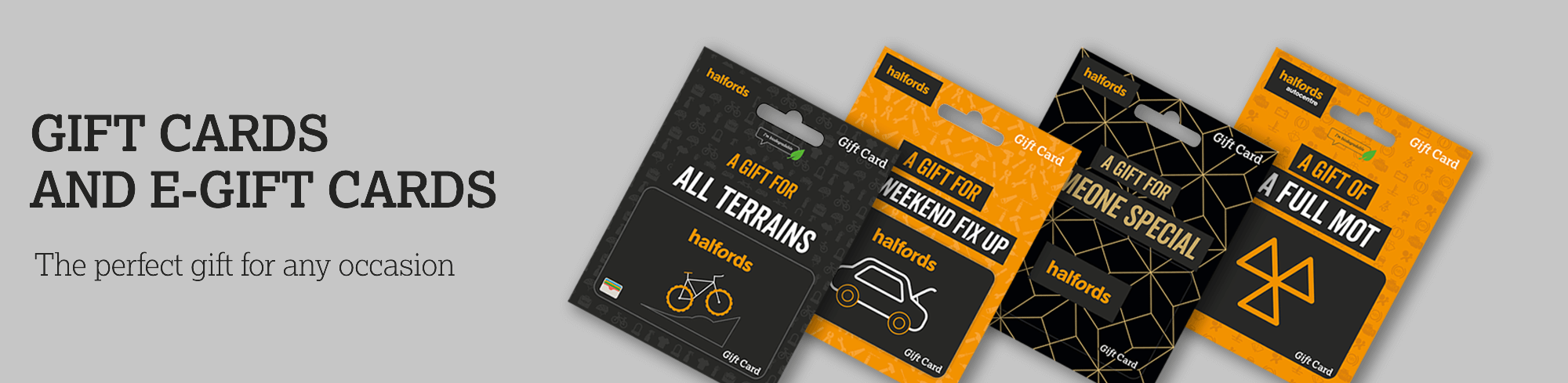 Halfords Gift Card Banner