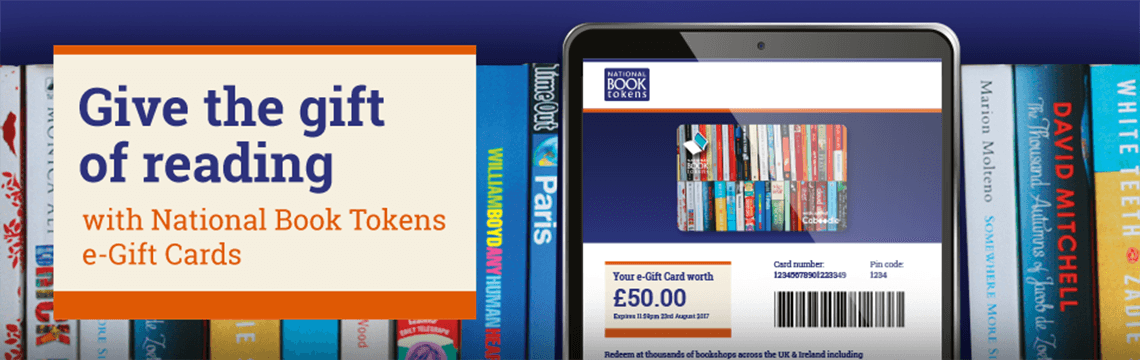 National Book Tokens Gift Card banner